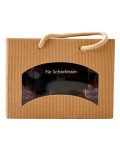 Geschenkbox Für Scharfesser Chili Saucen 2x155g und Habanero Sauce 50g